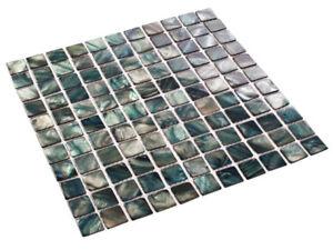 Perlmutt Mosaik Fliesen Shell Dark Schwarz 25 X 25 X 2 Mm Ebay