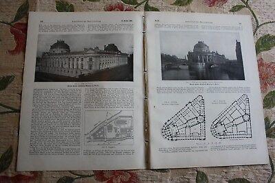 1904 Bauverwaltung 85 / Berlin Kaiser Friedrich Museum / Russland Eisenbahn