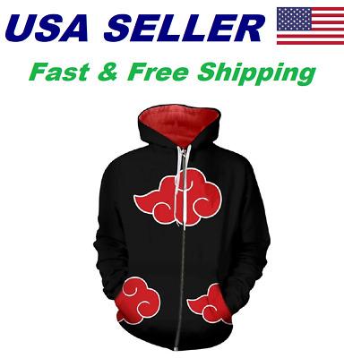 Men Women Cosplay Costume Blue Hoodie Hooded Coat Sweater Jacket Outfit US STOCK