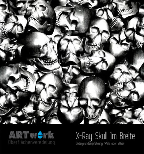 Wassertransferdruck Folie WTD Hydrographic Starterset X-Ray Skull Aktivator