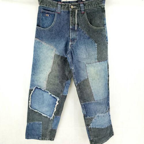PACO Men's Jeans 32x31 VINTAGE Baggy Loose Patchwo