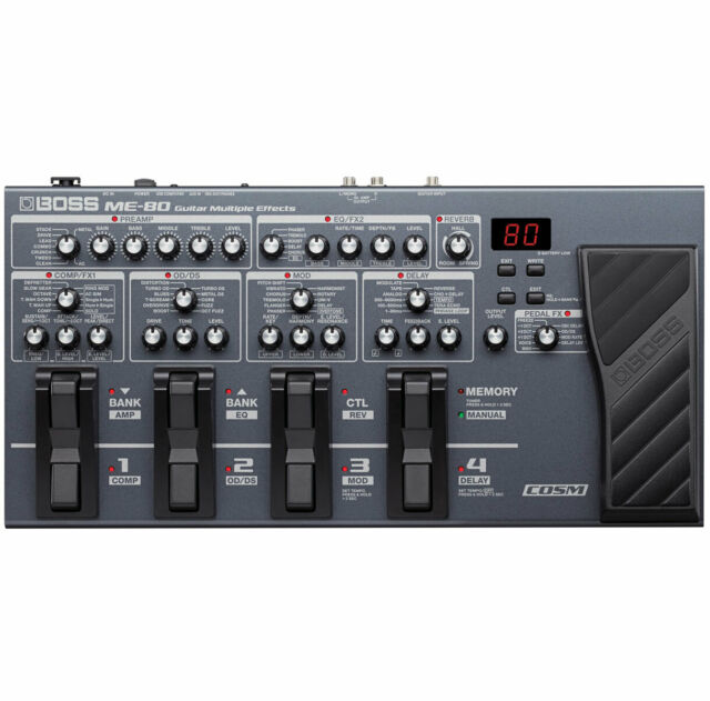 Boss ME-80 Unidad de Efectos Múltiples y Interfaz para Guitarra