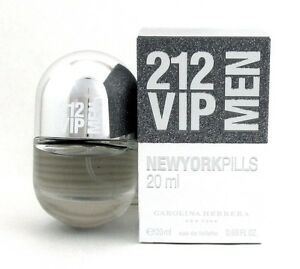 212 VIP MEN Cologne by Carolina Herrera 0.68 oz.  20 ml. EDT Spray ... f2967ba808