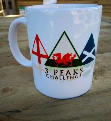 Three peaks challenge Mug Scaffel Pike Snowdon Ben Nevis