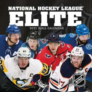 NHL Calendar 2021 Elite Stars Wall Calendar 30x30 Ice Hockey | eBay