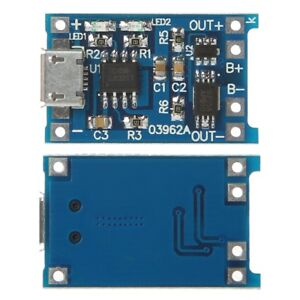 Lithium-Battery-Charge-Protection-2-In-1-Circuit-Board-5V-2A-1A-Micro-USB-Module