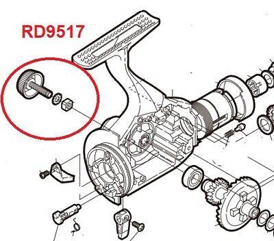 Ersatz Angelrolle Shimano Kork Kurbel Verschiedene Modelle Siehe Liste RD9517