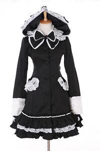 Costume Lolita lapin transition de Veste Oreilles Jl Gothic de Trench noir lapin de 659 qOtqP