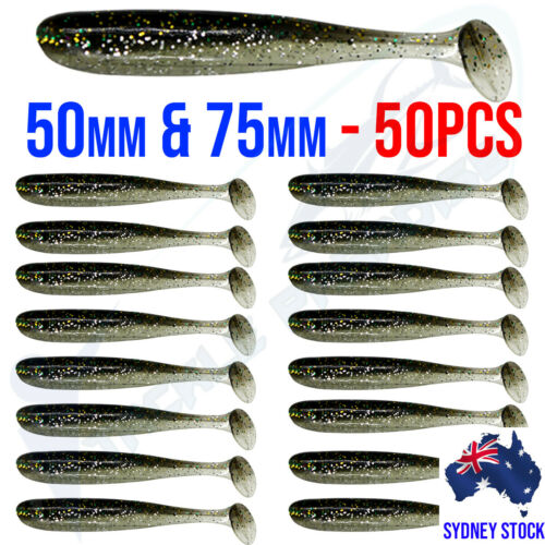 Scented 55mm 70mm Paddle T Tail Soft Plastics Fishing Lures Worm Bream Bass Cod