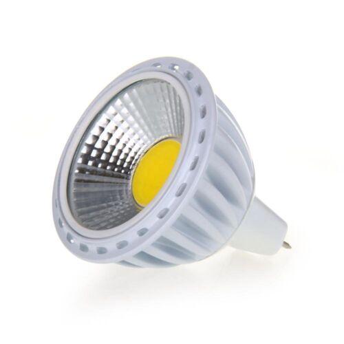 GU5,3//MR16 6W COB LED Lampe 420LM 60° 3000K Warmweiss DC 12V 5X P0A7 P7E6 L4A1
