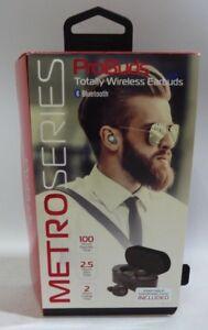 Details about Tzumi 4877 Probuds METRO Series Bluetooth Wireless Earphones  Black
