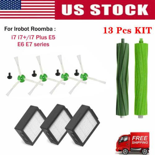i7 Plus E5 E6 E7 Roller brush Filter Side brush Kits for iRobot Roomba i7 i7+