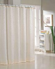 Ivory Floral Jacquard Livingston Fabric Shower Curtain