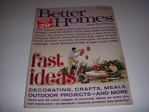 Vintage Better Homes And Gardens Magazine July 1965
