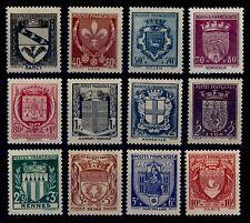 ARMOIRIES de France de 1941, Neufs * = Cote 24 € / Lot Timbres France 526 à 537