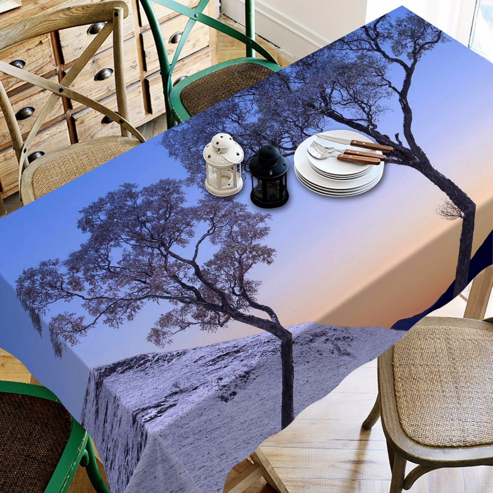 3D Tree snow86 Tablecloth Table Cover Cloth Birthday Party Event AJ WALLPAPER UK