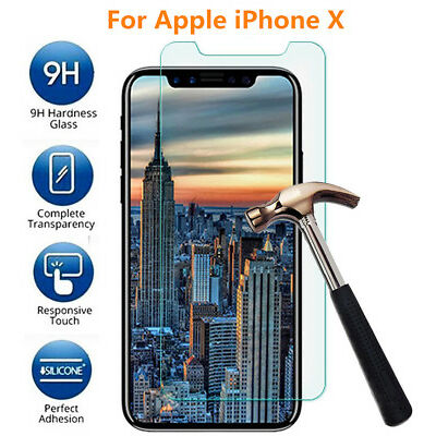 3-Pack Premium Real Tempered Glass Film Screen Protector for iPhone10/X 8 7 Plus