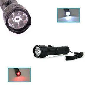 Waterproof Shockproof 7 LED Super Bright Torch Red Laser Pointer Solid Aluminium