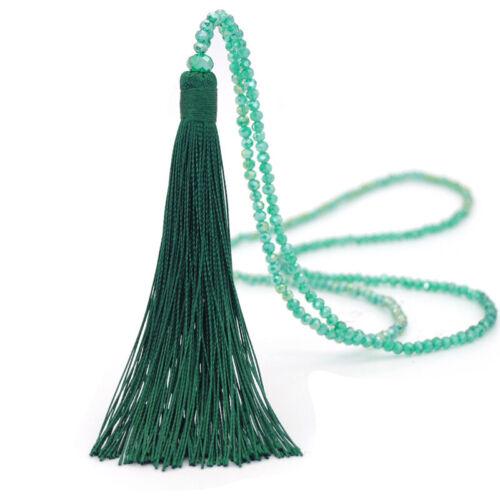 Boho Women Long Necklace Tassel Beaded Chain Fashion Jewellery Sweater Chain New