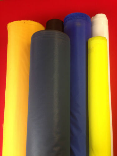 WATERPROOF  NYLON  FABRIC 4OZ PU MATERIAL BY THE METER 13 COLOURS UK FREE POST