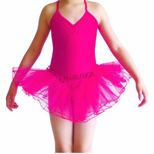 Girls Gymnastic Camisole Leotard Ballet Tutu Skirt Ballerina Dancewear Costume