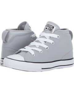 edd1c615b45 Details about Converse Kids Chuck Taylor All Star Syde Street Leather Mid  Little Kid Big Kid 4