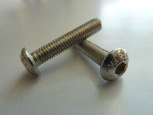 Linsenkopfschrauben ISO 7380 A2 Edelstahl M3 M4 M5 M6 Innensechskant