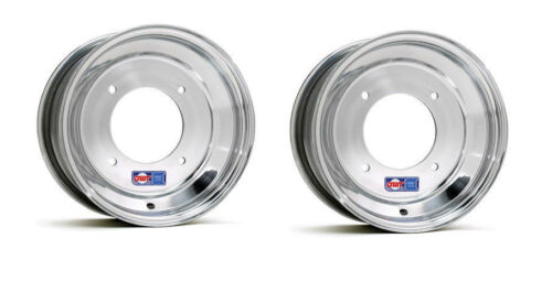 "DWT Polished Front Wheels Rims 10/"" 10x4 2+2 4//156 Drag Race YFZ Banshee Raptor"