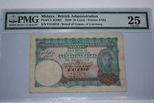 (PL) 25 CENTS E 318350 KNB2 1940 MALAYA/BRITISH ADMINISTRATION PMG 25 VERY FINE