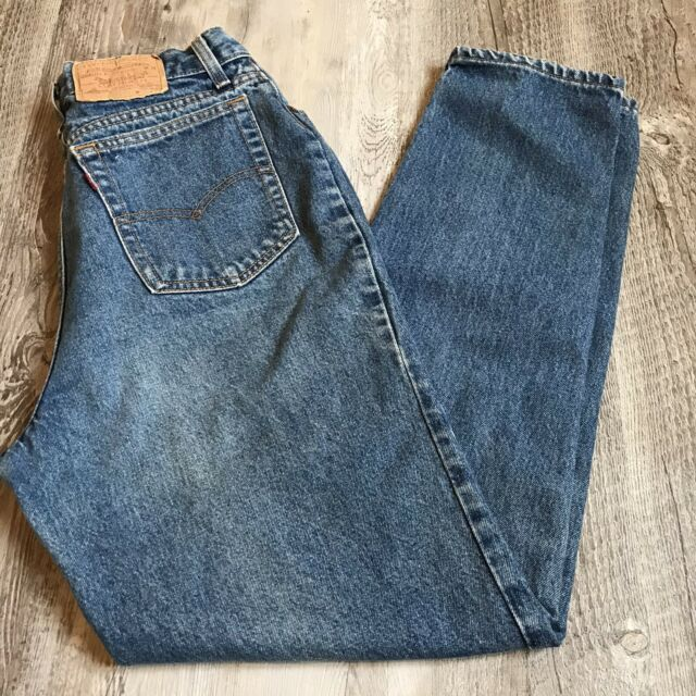Vintage Levi's High Waist Tapered Leg Mom Jeans Women's Size 16