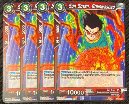 Brainwashed BT8-008 C Dragon Ball Super TCG NM 4x Son Goten