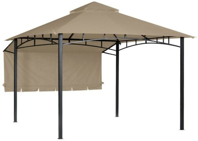 Replacement Canopy Polyester Beige for 10 ft  x 10 ft  Garden House with  Awning