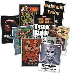 Mike-Tyson-Program-programme-Cover-Trading-Card-Set