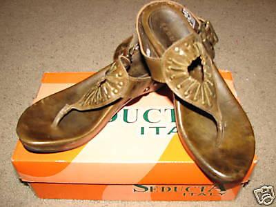 NIB Seducta  Marisela leather sandals s38ADORABLE