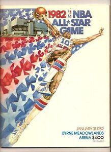 1982 NBA All Star Game Program New Jersey