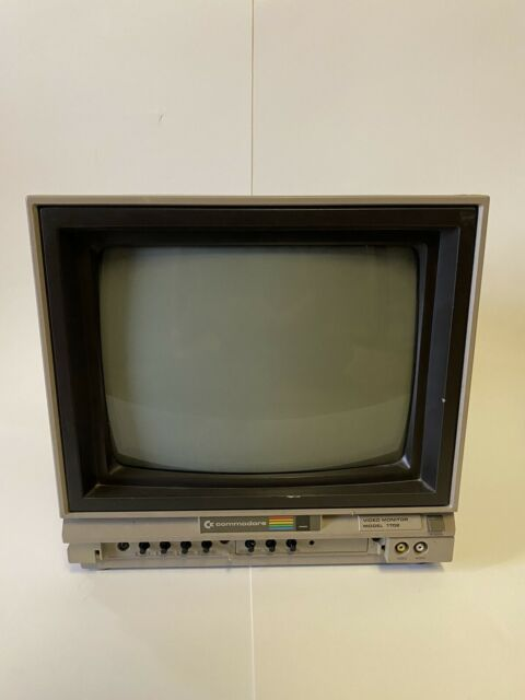 Vintage Commodore 64 Model 1702 Video Monitor Good Tested Working
