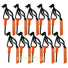 10PCS mini Emergency Flint Fire Starter Rod Lighter Magnesium camping kits tool