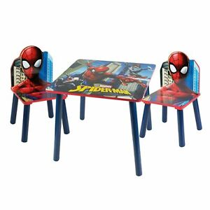 Surprising Details About Spider Man Themed Table And Chair Set Wooden Activity Nursery Playroom Furniture Andrewgaddart Wooden Chair Designs For Living Room Andrewgaddartcom