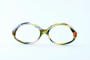 912e97766ce Image is loading TRUE-VINTAGE-DEADSTOCK-NOS-CLEAR-MULTI-COLORED-EYEGLASS-