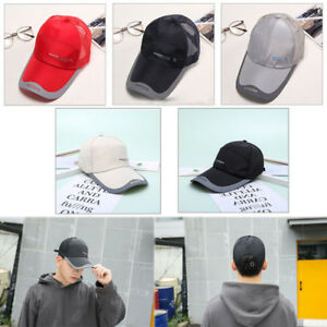 9197ab77e18 Men Women Outdoor Quick-drying Visor Caps Sport Summer Running Baseball  Mesh Hat Hats