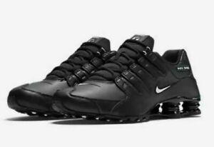 Nike-Shox-NZ-EU-Casual-Shoes-Black-White-501524-091-Men-039-s-NEW