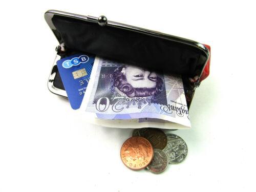 Damen Qualität Echt Super Weiche Leder Geldbörse Clipverschluss Zwillings Tasche