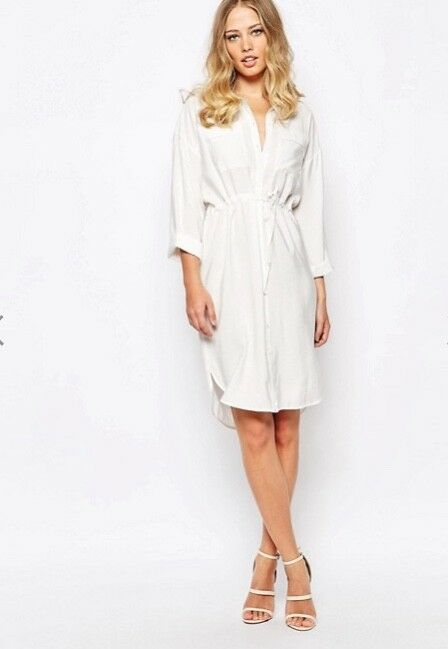 Whistles - Paige White Dress - Shirt - New With Tag -Size 10 - Women's Dresses