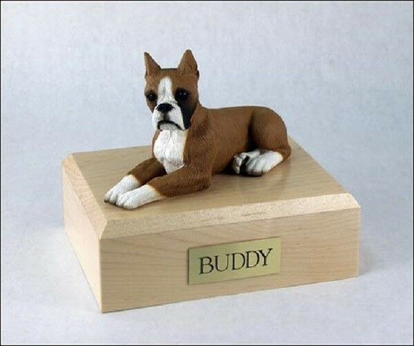 Boxer, Fawn Pet Funeral Cremation Urn Available in 3 Different Colores & 4 Dimensiones