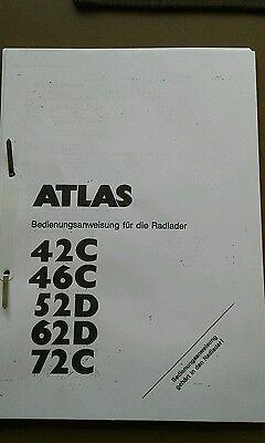 Baugewerbe Sonstige Professioneller Verkauf Bedienanleitung Radlader Atlas Ar 42c....72c Senility VerzöGern