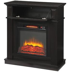Freestanding Infrared Electric Fireplace TV Stand Mantel ...