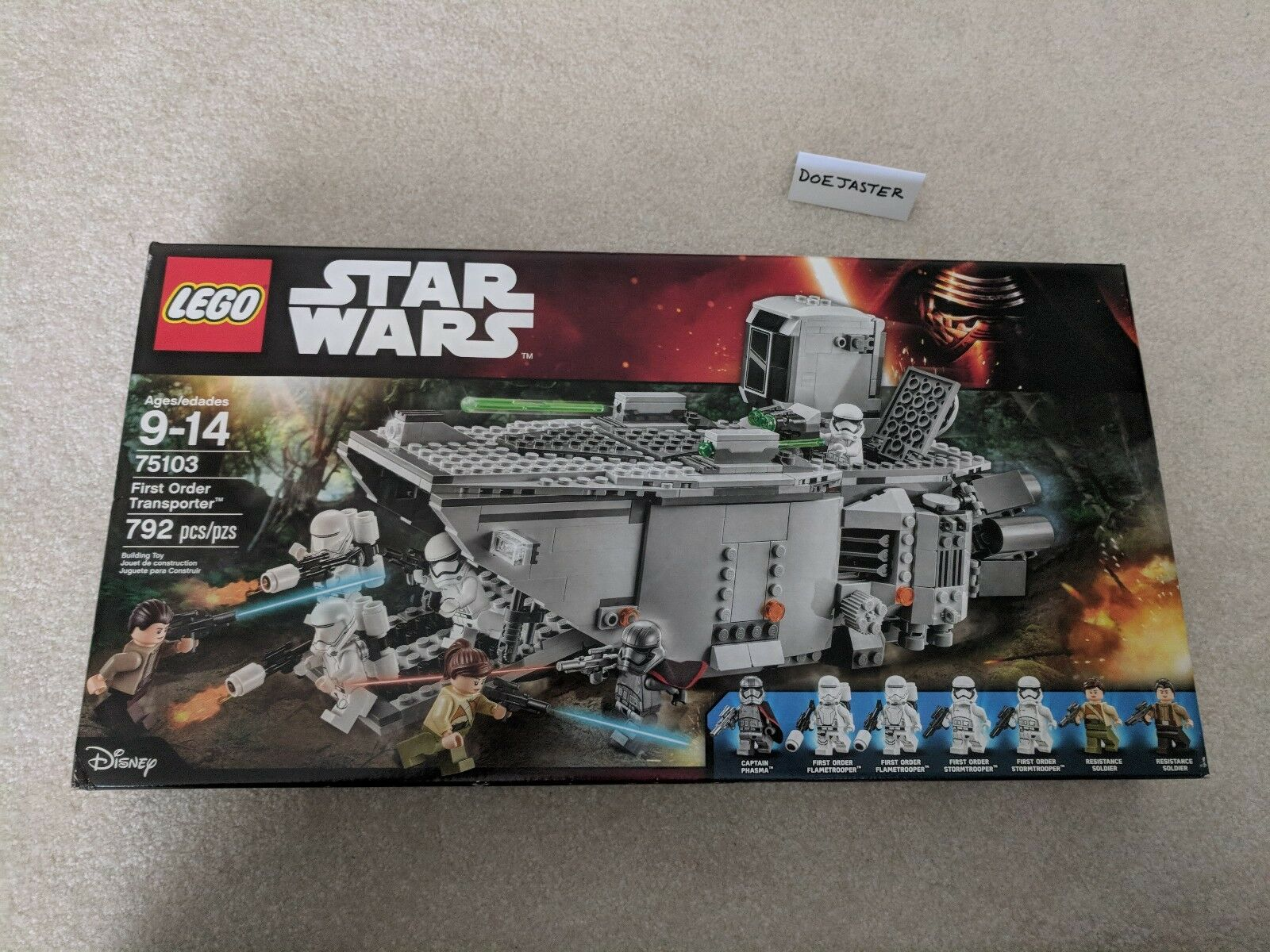 LEGO (75103) First Order Transporter - NIB - 2015 - Star Wars - Captain Phasma