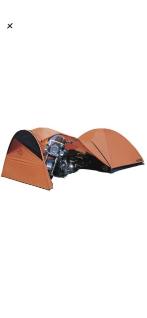 Harley-Davidson Rider's 4-Person Motorcycle Dome Camping Tent Storage Canopy