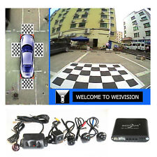 Universal 360 Degree Bird View Panorama System Car DVR Recording rear view camer