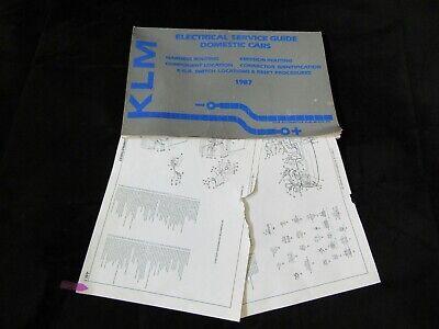 1987 LINCOLN CONTINENTAL MARK VII TOWN CAR WIRING DIAGRAMS MANUAL SHEETS  SET | eBayeBay